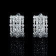 1.46ct Diamond 18k White Gold Huggie Earrings