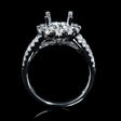 .99ct Diamond 18k White Gold Split Shank Halo Engagement Ring Setting