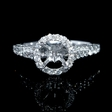 .62ct Diamond Platinum Halo Engagement Ring Setting