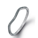 Simon G Diamond 18k White Gold Wedding Band Ring