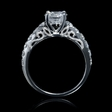 .72ct Diamond Antique Style 18k White Gold Engagement Ring Setting