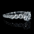 1.35ct Diamond Antique Style Platinum Engagement Ring Setting