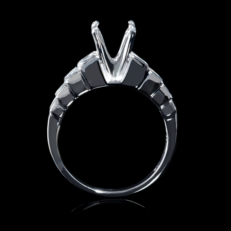 88ct platinum channel set engagement ring setting