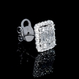 1.50ct Diamond 18k White Gold Cluster Earrings