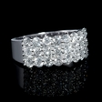 2.24ct Diamond 18k White Gold Three Row Ring