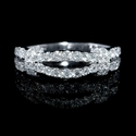 Diamond 18k White Gold Two Row Ring