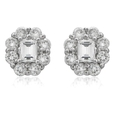 .85ct Diamond 18k White Gold Cluster Earrings