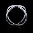 .17ct Diamond 18k White Gold X Ring