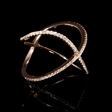 .16ct Diamond 18k Rose Gold X Ring