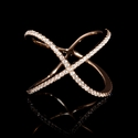 Diamond 18k Rose Gold X Ring