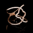 .64ct Diamond 18k Rose Gold Ring