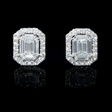 2.07ct Diamond 18k White Gold Cluster Earrings