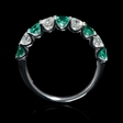 .73ct Diamond and Emerald 18k White Gold Ring