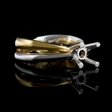 Leo Pizzo 18k Two Tone Gold Engagement Ring Setting