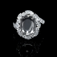 1.43ct Diamond 18k White Gold Halo Engagement Ring Setting