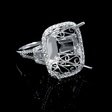 1.30ct Diamond 18k White Gold Split Shank Halo Engagement Ring Setting