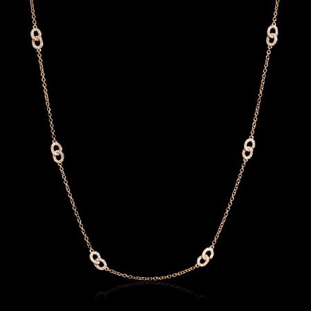 Diamond 18k Rose Gold Necklace