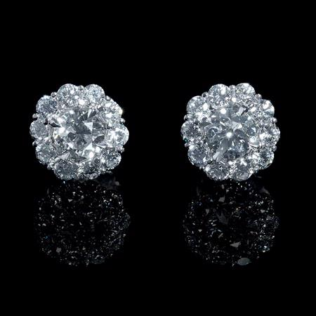 Diamond 18k White Gold Earring Jackets