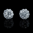 1.86ct Diamond 18k White Gold Earring Jackets