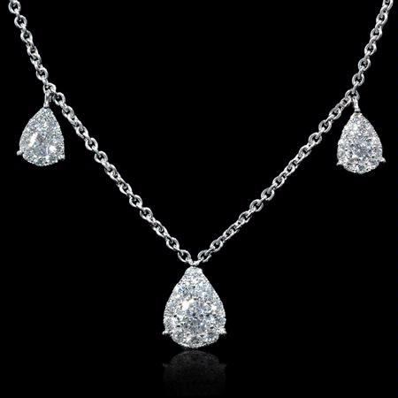 1.14ct Diamond 18k White Gold Necklace