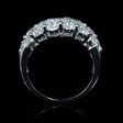 2.08ct Diamond 18k White Gold Three Row Ring