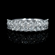 1.60ct Diamond 18k White Gold Two Row Ring