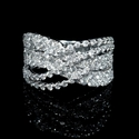 Diamond 18k White Gold Wave Ring