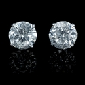 Diamond 4.51 Carats 14k White Gold Stud Earrings