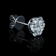 1.26ct Diamond 18k White Gold Cluster Earrings