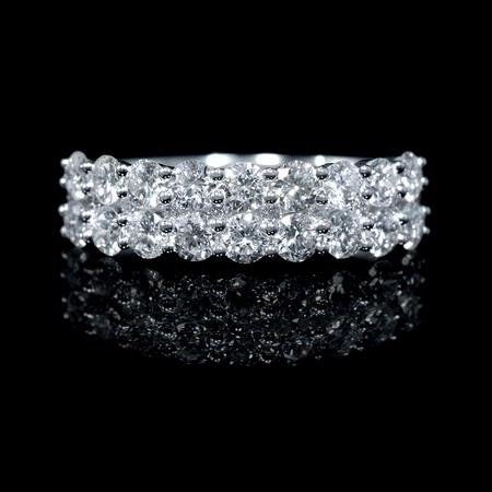 1.43ct Diamond 18k White Gold Two Row Ring