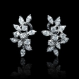 1.75ct Diamond 18k White Gold Cluster Earrings