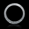 1.03ct Diamond Antique Style 18k White Gold Eternity Wedding Band Ring