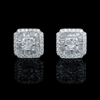 1.52ct Diamond 18k White Gold Cluster Earrings