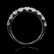 1.11ct Diamond 18k White Gold Wedding Band Ring