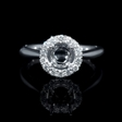 .36ct Diamond 18k White Gold Halo Engagement Ring Setting