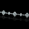 Diamond Antique Style 18k White Gold Bracelet