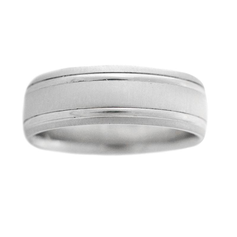 Men's Platinum Wedding Band Ring