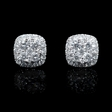 .61ct Diamond 18k White Gold Cluster Earrings