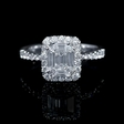 1.09ct Diamond 18k White Gold Halo Mosaic Engagement Ring
