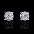 .44ct Diamond 18k White Gold Cluster Earrings