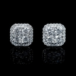 .71ct Diamond 18k White Gold Cluster Earrings