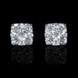 1.08ct Diamond 18k White Gold Cluster Earrings