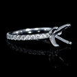 .69ct Diamond 18k White Gold Eternity Engagement Ring Setting