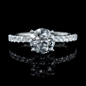 Diamond 18k White Gold Eternity Engagement Ring Setting