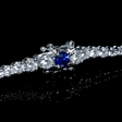2.68ct Diamond and Blue Sapphire 18k White Gold Bracelet