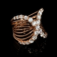 1.83ct Diamond 18k Rose Gold X Ring