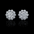 .86ct Diamond 18k White Gold Earrings with Jackets