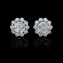 Diamond 18k White Gold Earrings with Jackets