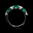 .69ct Diamond and Emerald 18k White Gold Ring