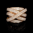3.30ct Diamond 18k Rose Gold Ring